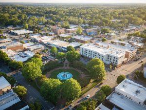 Aerial photo of downtown LaGrange, Georgia